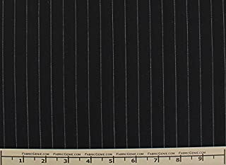 White Stripe English Stretch Cotton Poplin Shirting Fabric