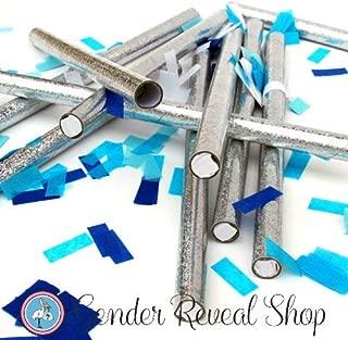 Gender Reveal Blue Confetti Sticks - Set of 10 Confetti Sticks