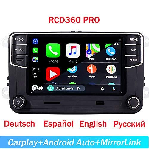 6,5 cm Auto Stereo-Radio CarPlay Mirrorlink Bluetooth für VW Golf Caddy Touran CC