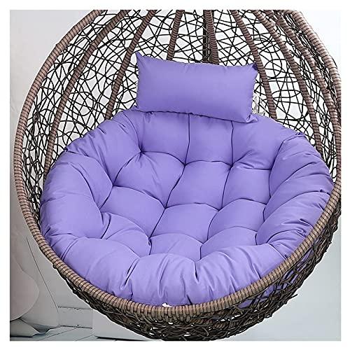 Cojín colgante Egg para silla, cojín extra grande para columpio con almohada para la cabeza, cojines gruesos para silla al aire libre para columpio Egg, sillón colgante de ratán, sillón basculante d