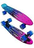 Karnage Retro Skateboard (Chrome Blue/Purple/Pink)