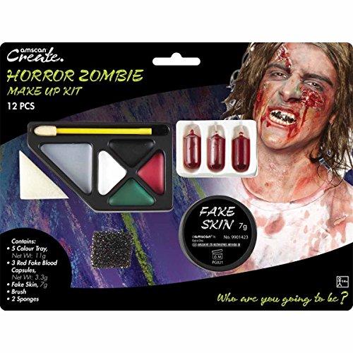 Amscan International 9901423 Horreur Zombie Make Up Kit