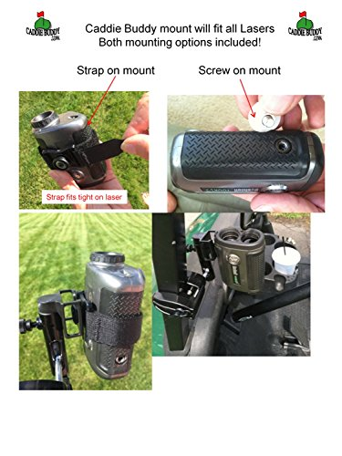 Caddie Buddy Golf Cart Mount/Holder for Laser Rangefinders. Strap Will fit All Lasers Bushnell