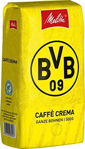 Melitta BVB Kaffee, Ganze Kaffeebohnen, vollmundig und ausgewogen, Stärke 3, BVB Caffè Crema, 500g