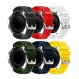 Syxinn Compatible con Correa de Reloj Gear S3 Frontier/Classic/Galaxy Watch 46mm Reemplazo de Banda de Silicona Suave Deportiva Pulsera de Repuesto para Gear S3/Moto 360 2nd Gen 46mm