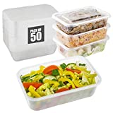 Contenitori per alimenti con coperchi ermetici, contenitori in plastica riutilizzabili senza BPA, adatti al microonde, adatti per conservare cibo, frutta, cereali, frutta secca