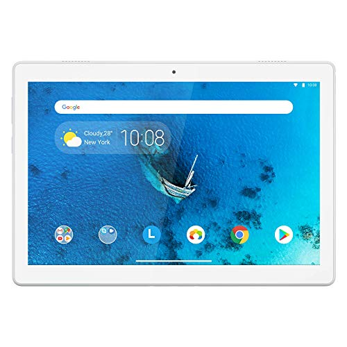 Lenovo Tab M10 25,5 cm (10, 1 pollici HD IPS Touch) Tablet PC (Qualcomm Snapdragon Sdm429 Quad Core, 2 GB RAM, 16 GB eMCP, Wi-Fi, Android 9) Bianco