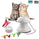 FIRIK Katzenspielzeug interaktives automatisches drehendes Licht-Übungs-Spielzeug für Kleine Mittlere große