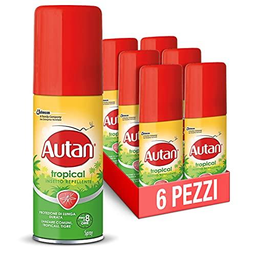 Autan Tropical Spray, 50Ml, Formato Scorta Da 6 Unità - 460 g