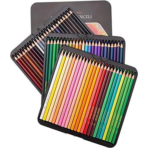 Colored Pencils 72 Count -Soft Core Pre-Sharpened Drawing Pencils for Adults and Children