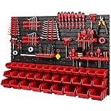 Werkzeugwand Stapelboxen 1152 x 780 mm - Lagersystem SET Werkzeughaltern und 34 Stück Box -...