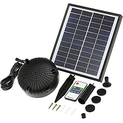 Anself Solar Fountain Pump with LED Light and Remote Control, Battery Backup, 12V Floating Solar Power Brushless Water Pump, for Garden Pond Fountains Landscape