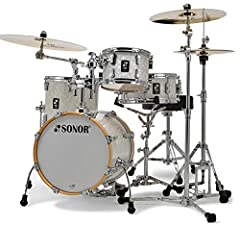 "4-piece Maple Shell Pack with 10"" Tom 13"" Floor Tom 16"" Bass Drum 13"" Snare - White Marine Pearl"