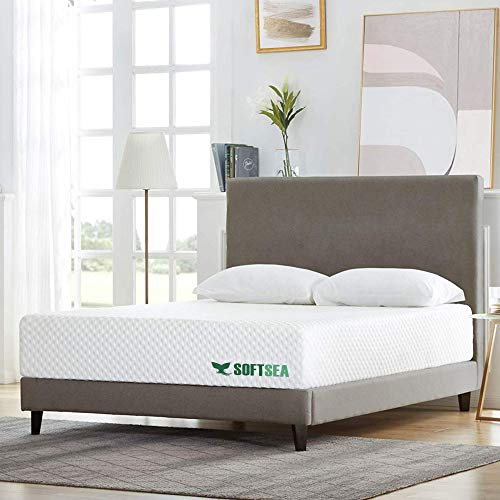 Queen Size Memory Foam Mattress, SOFTSEA 12 Inch Gel Infused Mattress Bed in a Box, Breathable Cooling-Gel Mattress