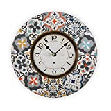 Versa Alfama Reloj de Pared Silencioso Decorativo para la Cocina, el Salón, el Comedor o la Habitación, Estilo Portugués, Medidas (Al x L x An) 29 x 4 x 29 cm, Madera, Color Gris