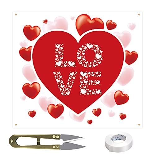 CINVEED Hochzeitsherz zum Ausschneiden Hochzeits Laken Deko Herzmotiv Hochzeitslaken Bettlaken mit Scheren schneiden Herz Hochzeitsbräuche Hochzeitsspiele für Braut Bräutigam Fotohintergrund