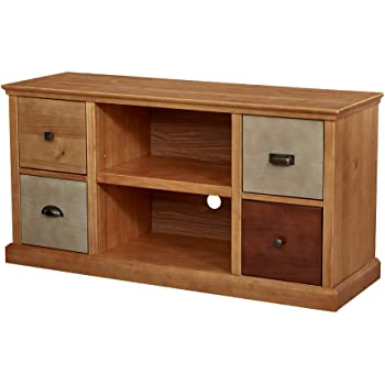 "Amazon Brand – Ravenna Home Classic Solid Wood Media Center, 47""W"