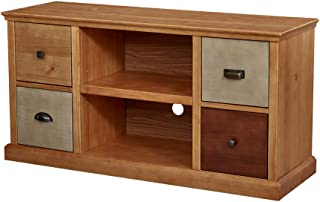 Amazon Brand – Ravenna Home Classic Solid Wood Media Center, 47