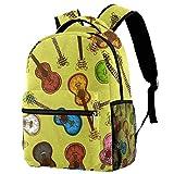 Sac à dos de guitare électrique coloré pour les adolescents de l'école de livres de voyage décontracté Multicolore 09 29.4x20x40cm/11.5x8x16 in