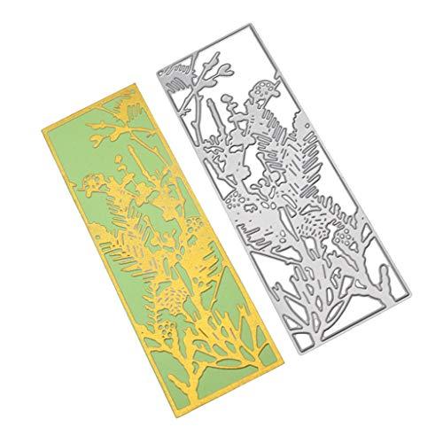 Metalen snijmatten, Bloemen Landschap Achtergrond Stencil voor Scrapbooking Album Papieren kaart Decor Craft Pasen Cadeaukaart XXS G