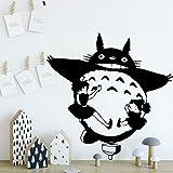 wZUN Pegatinas de Pared para habitación, decoración de habitación para niños, Pegatinas de Vinilo de Gato de Dibujos Animados de Anime japonés, Mural para guardería, Mural para el hogar, 33X33cm