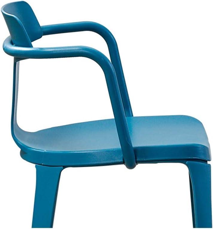 Moderne Minimaliste Lazy Chaise, Bureau De La Mode Casual Chaise De Bureau Tabouret Dossier, Non-Slip Chaise De Salle À Manger Durable,Rouge Black