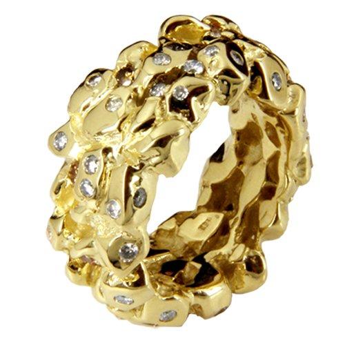 Diamant Ring'Nugget' aus Gold Goldschmiedearbeit (Gelbgold 585) - Goldring mit Diamant 2 Karat - Diamantring - Brillantring mit Expertise - Nuggetring