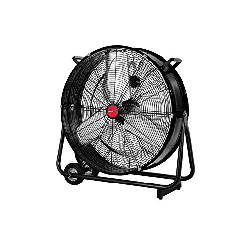 "OEMTOOLS 24 Inch High-Velocity Barrel Fan, Old Model 180 Degree Tilt Mechanism for Airflow Control Cool Your Workspace, Warehouse, 23.99"", BLACK"