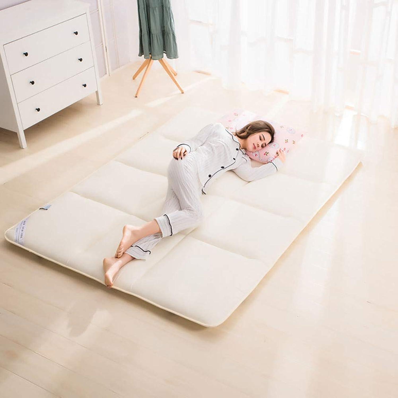 Sponge Soft Tatami Padded Folding Thermostat Mattress Floor Sleeping Pad Home Bed Tweezers Extra Large,Beige,90  195CM
