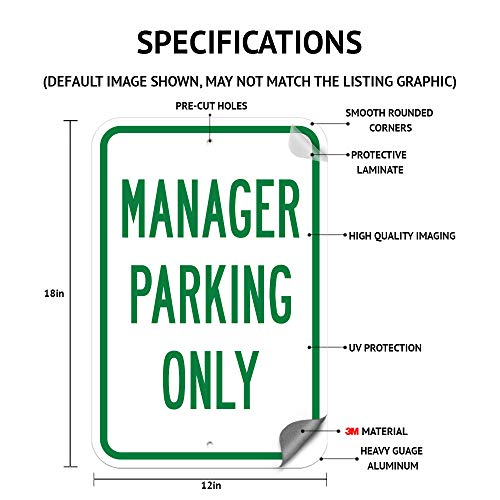 "Staff Parking Only Sign 12"" x 18"" Heavy Gauge Aluminum Signs Photo #3"