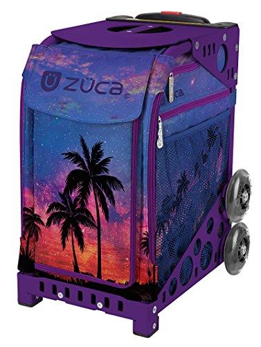 Zuca 'Island Life' Sport Insert Bag, Purple Frame with Flashing Wheels