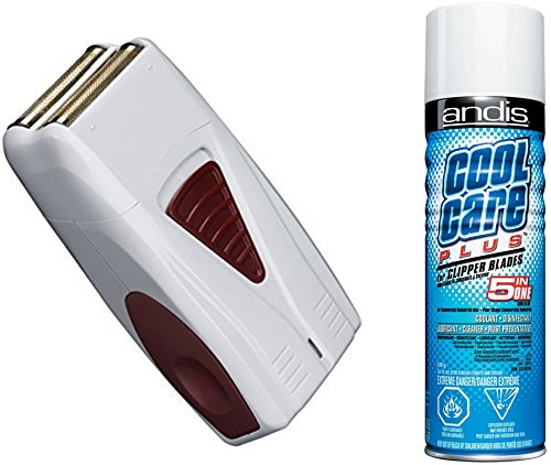 Andis LIGHTWEIGHT Cordless Mens Shaver with All NEW Hypoallergenic Gold Foil Technology, BONUS FREE Andis Cool Care Plus Clipper Blade Cleaner Included