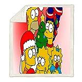 Ruiqieor Kuscheldecken 100x140 cm The Simpsons Dec