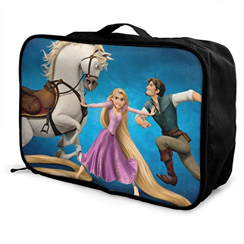 Bolsa de viaje Tangled Rapunzel Travel Lage, bolsa de viaje portátil impermeable con maleta grande Bapa Caity