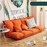ソファー 座椅子 ラウンジチェア瞑想ベンチハイバックシート座敷折りたたみ式ゆったりソファベッドリビングルームゲーム読書背もたれ洗えるオレンジ