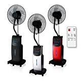 Dardaruga Digital Indoor Air Mist Fan with remote control T (XXL tank 3.10 Liters) IONIZER, MOSQUITO and INSECTIVE REPELLENT, AROMA Compartment, Programmable timer, SILVER