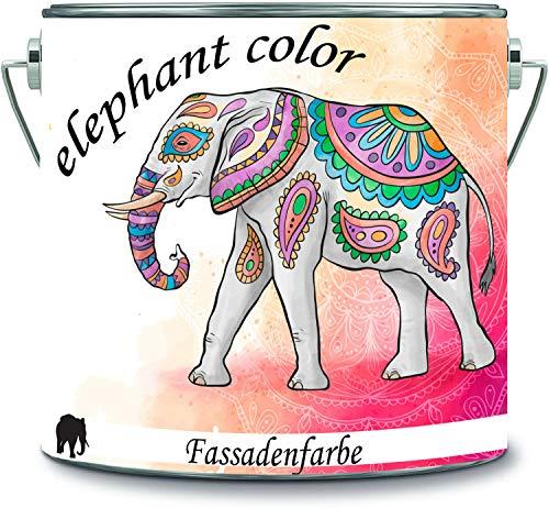 elephant color hochwertige Fassadenfarbe auf Silikonharz Sockelfarbe Betonfarbe (5 L, RAL 7045 - Telegrau 1)
