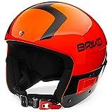 Briko Vulcano Fis 6.8' Junior Casco de Esquí, Niños, Shiny Orange, 53-56