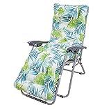 Bravo Home - Cojín de tumbona 180 x 50 x 10 cm, cojín de asiento cómodo y suave, respaldo antideslizante, cojín de asiento con respaldo alto para interior exterior (Dos hojas)
