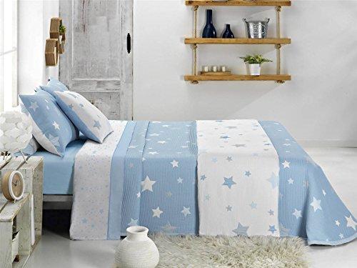 CAÑETE - Colcha Capa KALO Cama 105 - Color Azul