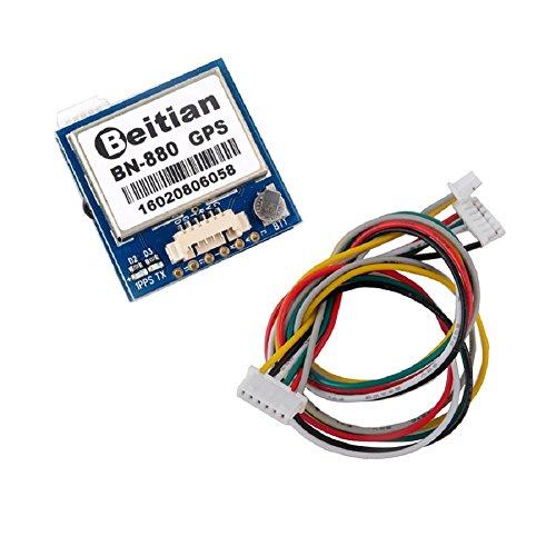 BN-880 GPS Module U8 with Flash HMC5883 Compass + GPS Active Antenna Support GPS Glonass Beidou Car Navigation for Arduino Raspberry Pi Aircraft Pixhawk APM Flight Controller Geekstory