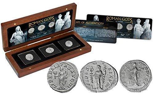 IMPACTO COLECCIONABLES Collezione Monete ANTICHITA' - 3 Denari in Argento - divinità Romane