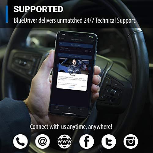 BlueDriver Bluetooth Pro OBDII Herramienta de escaneo para iPhone y Android