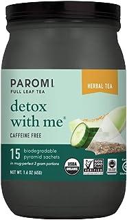 Sponsored Ad - Paromi Tea Organic Detox with Me Caffeine-Free Rooibos Herbal Tea, 15 Pyramid Tea Bags - Non-GMO