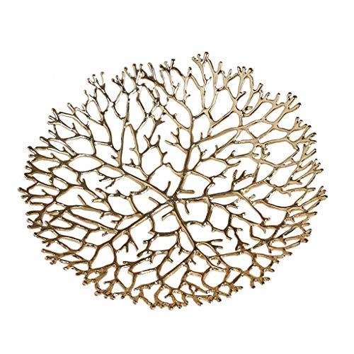 QTQHOME Moderne Pur cuivre Creux métal Bol de Fruits Maison Salon Art décoration Assiette de Fruits 25cm 23cm Plat de Fruits (Taille:25cm)