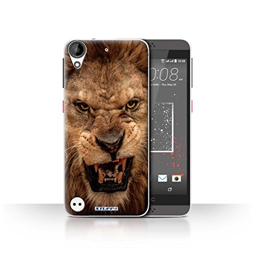 Hülle Für HTC Desire 530 Wilde Tiere Löwe Design Transparent Ultra Dünn Klar Hart Schutz Handyhülle Case