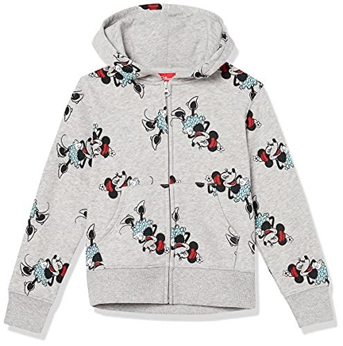 Amazon Essentials Disney Star Wars Marvel Princess Fleece Zip-Up Hoodie Sweatshirts Sudadera, Minnie Icons, 3 años