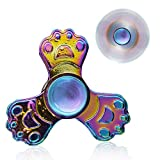 VCOSTORE Rainbow Fidget Spinner, Hand Spinners Metal Focus Fidgeting Toy for Adult Kids Autism Stress Relief, Sky Wheel