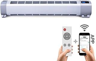 Calentador de zócalo Calentador Del Radiador Termostato, Control Remoto Del Hogar Ahorro de Energía con Limitador Térmico de Seguridad Apagado Automático Conversión de Frecuencia de La Placa Base Cale