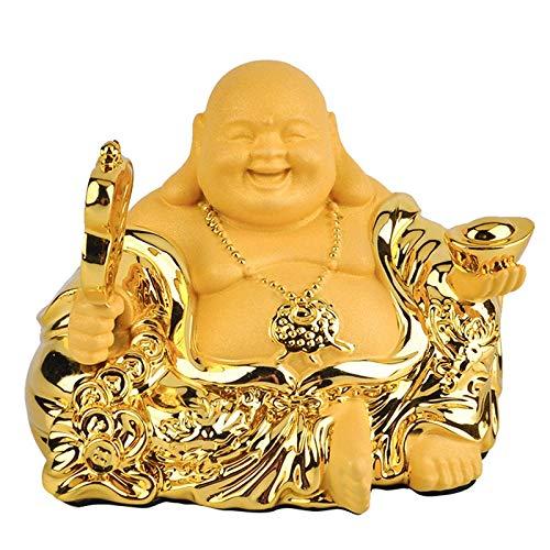 Skulpturen Statue Dekoration Maitreya Buddha Auto Dekoration Fan Lachen Buddha Auto Innendekoration Geschäftsgeschenk